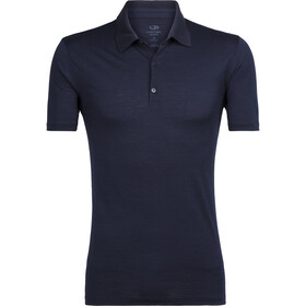 Icebreaker Tech Lite Polo manches courtes Homme, midnight navy